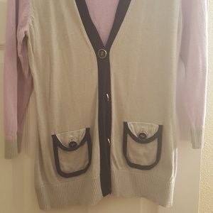 3/4 length  sleeve cardigan